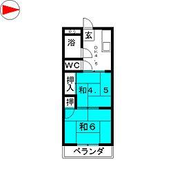昭和ビル[5階]の間取り