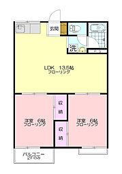 パークハウスB[2階]の間取り