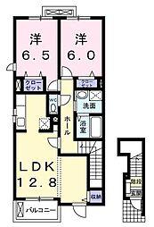 ウエルス[2階]の間取り
