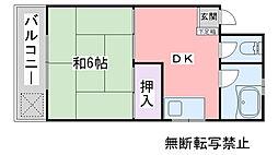 福岡県糸島市前原駅南3丁目の賃貸マンションの間取り