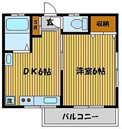 コーポ南長崎[2階]の間取り
