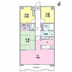エディフィシオキーヨ[4階]の間取り