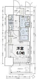 エステムコート新大阪リンクス 4階1Kの間取り