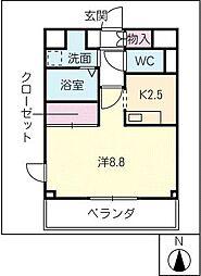 シーガルJ[3階]の間取り