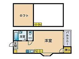 マキシム吉塚駅前[2階]の間取り