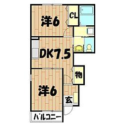 TWINKLE STAR−B[1階]の間取り