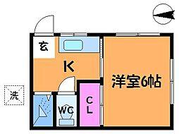 [一戸建] 東京都調布市入間町1丁目 の賃貸【/】の間取り