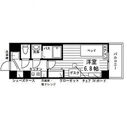 学生会館 Aile(エール)草薙[食事付き] 2階1Kの間取り