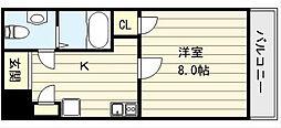 Uro勝山[7階]の間取り
