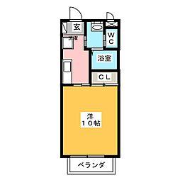グリーン廣本[2階]の間取り