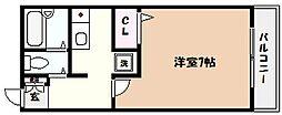 サンハイツ深江[3階]の間取り