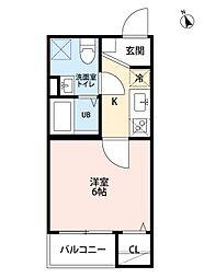 アンフィニ・コート黒川[1階]の間取り