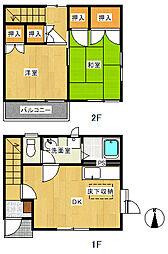 [テラスハウス] 神奈川県秦野市鶴巻北2丁目 の賃貸【/】の間取り
