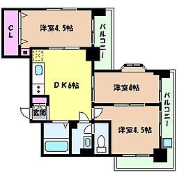 ダンディライオン六甲6[402号室]の間取り