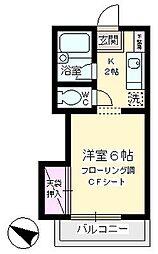 東京都町田市玉川学園8丁目の賃貸アパートの間取り