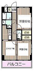 三高・ツインタワーサウス[402号室]の間取り