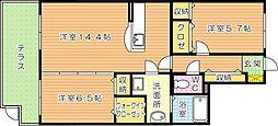 エコライフ中川[1階]の間取り