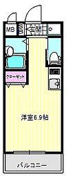 シエテ矢田[201号室]の間取り