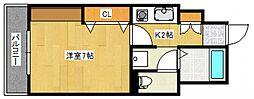 ロックフィル瀬下[3階]の間取り