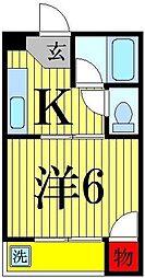 メゾン西新井[403号室]の間取り
