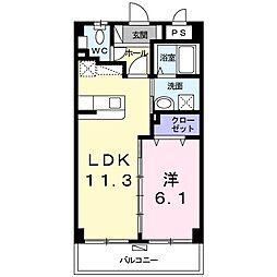 沖縄都市モノレール 赤嶺駅 4.3kmの賃貸マンション 1階1LDKの間取り