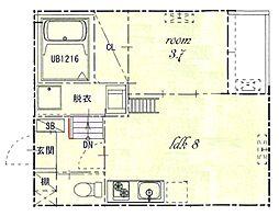 熱田区旗屋二丁目SKHコーポ[3階]の間取り