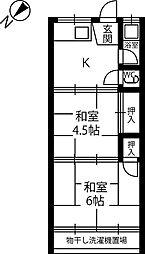 柏木町文化住宅[2階]の間取り