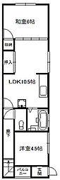 [一戸建] 大阪府大阪市中央区上本町西3丁目 の賃貸【/】の間取り