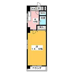 Le Bois De神宮[5階]の間取り