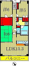 クレサージュ松戸六高台[2階]の間取り