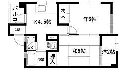 東雲マンション A棟・B棟[A402号室]の間取り