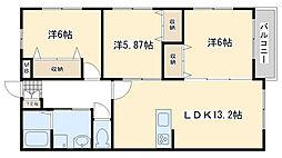 Blanc Bonheur Kokura[3階]の間取り