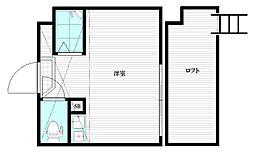 DELSOL IKEBUKURO 1階ワンルームの間取り