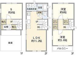 JR横須賀線 新川崎駅 徒歩15分の賃貸一戸建て 2SLDKの間取り