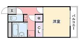 レオパレス武庫川[113号室]の間取り