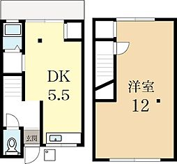 [タウンハウス] 京都府城陽市寺田水度坂 の賃貸【/】の間取り