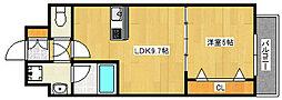 スプランディッド王子公園 4階1LDKの間取り
