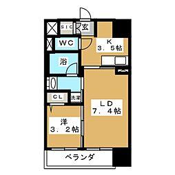 バリューエクセ[4階]の間取り