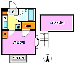 K・S新松戸クラブ[2階]の間取り