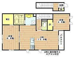 (仮称)D-room菱屋東[201号室]の間取り