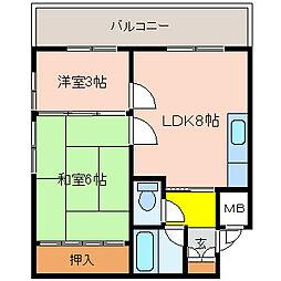 るなマンションIII[5階]の間取り