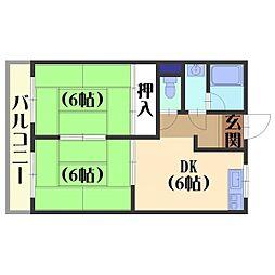 柴田マンション[302号室]の間取り