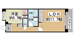 HAT神戸・灘の浜12号棟[3階]の間取り