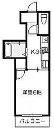 N4三宅[4階]の間取り
