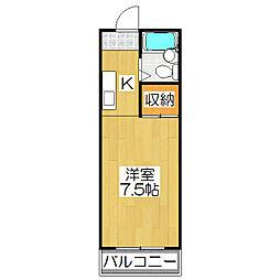 大光ビル[4-D号室]の間取り