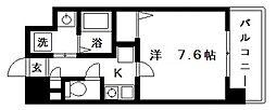 ブランパレス寺田町[7階]の間取り