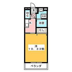 栄マンション[2階]の間取り