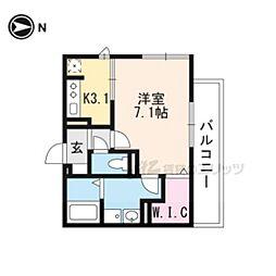 仮称)D-room一乗寺高槻町 3階1Kの間取り
