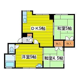 北海道札幌市東区北十一条東10丁目の賃貸アパートの間取り