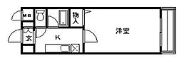 エリカIII[207号室]の間取り